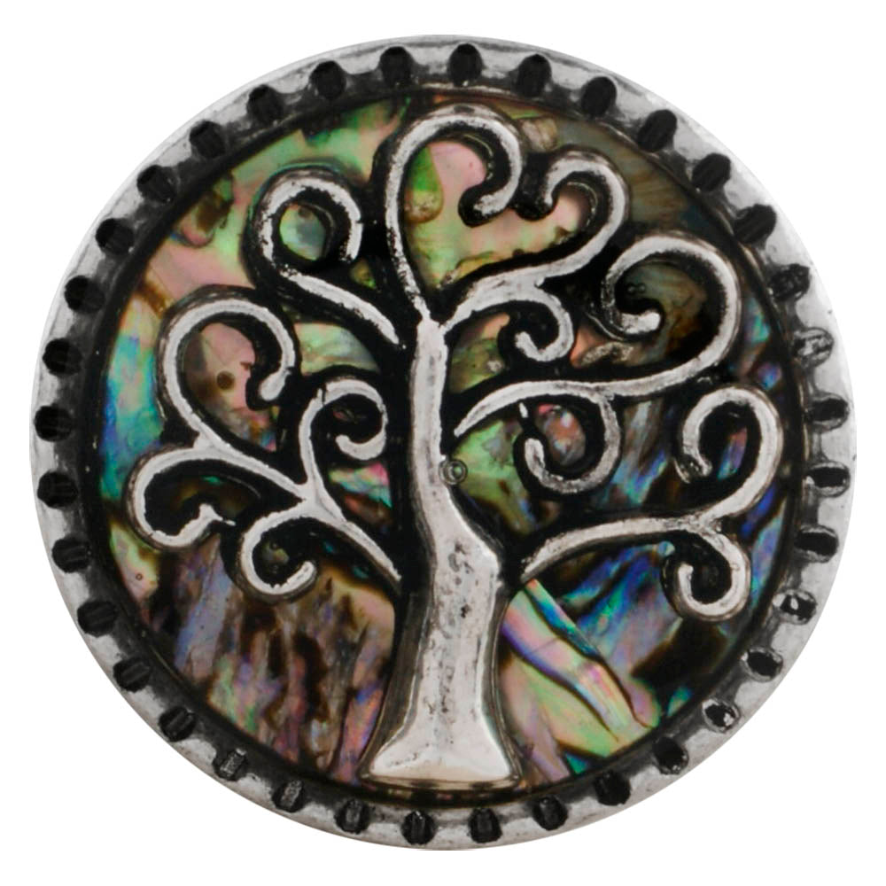Abalone Family Tree Snap - Gracie Roze Yourself Expression Snap Jewelry