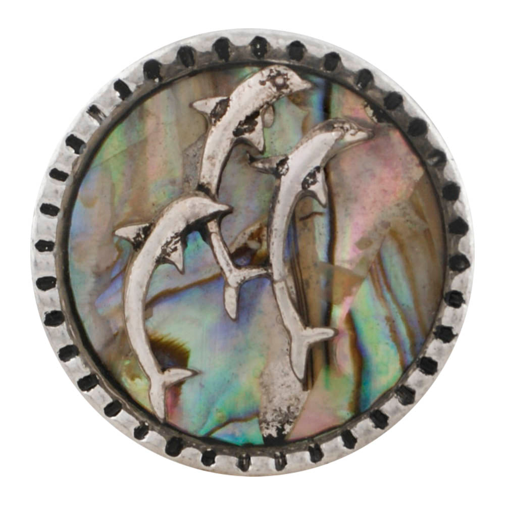 Abalone Dolphin Snap - Gracie Roze Yourself Expression Snap Jewelry