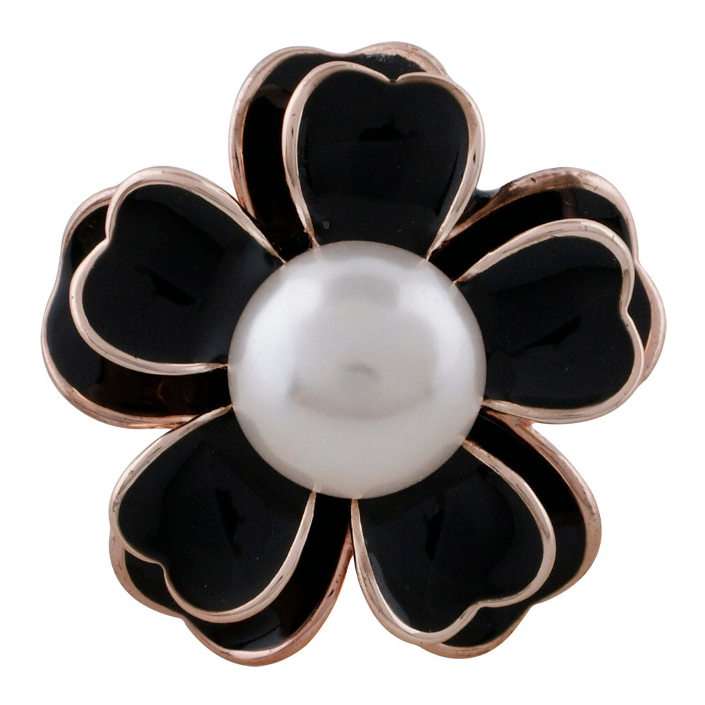 Pearl Flower Snap - Gracie Roze Yourself Expression Snap Jewelry