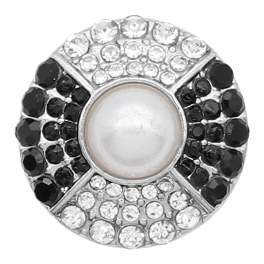 Black and White Crystal Pearl Snap - Gracie Roze