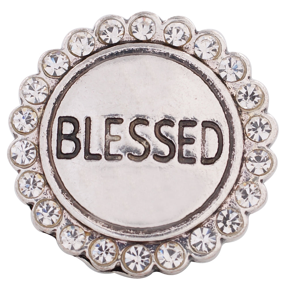 Silver Blessed Snap - Gracie Roze Yourself Expression Snap Jewelry
