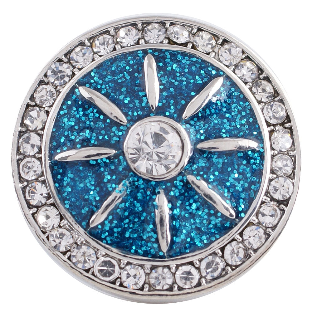 Blue Wheel Snap - Gracie Roze Yourself Expression Snap Jewelry
