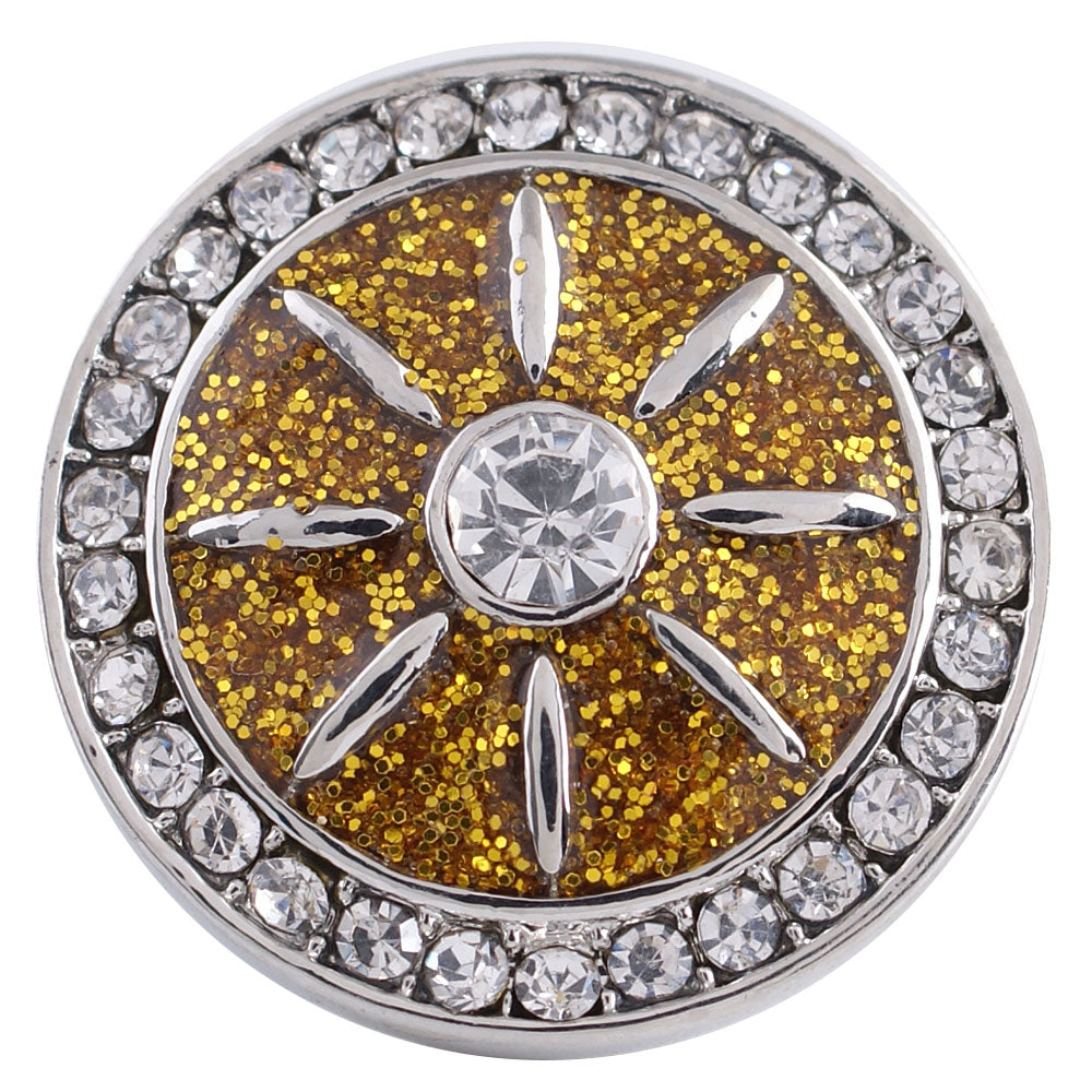 Gold Wheel Snap - Gracie Roze Yourself Expression Snap Jewelry