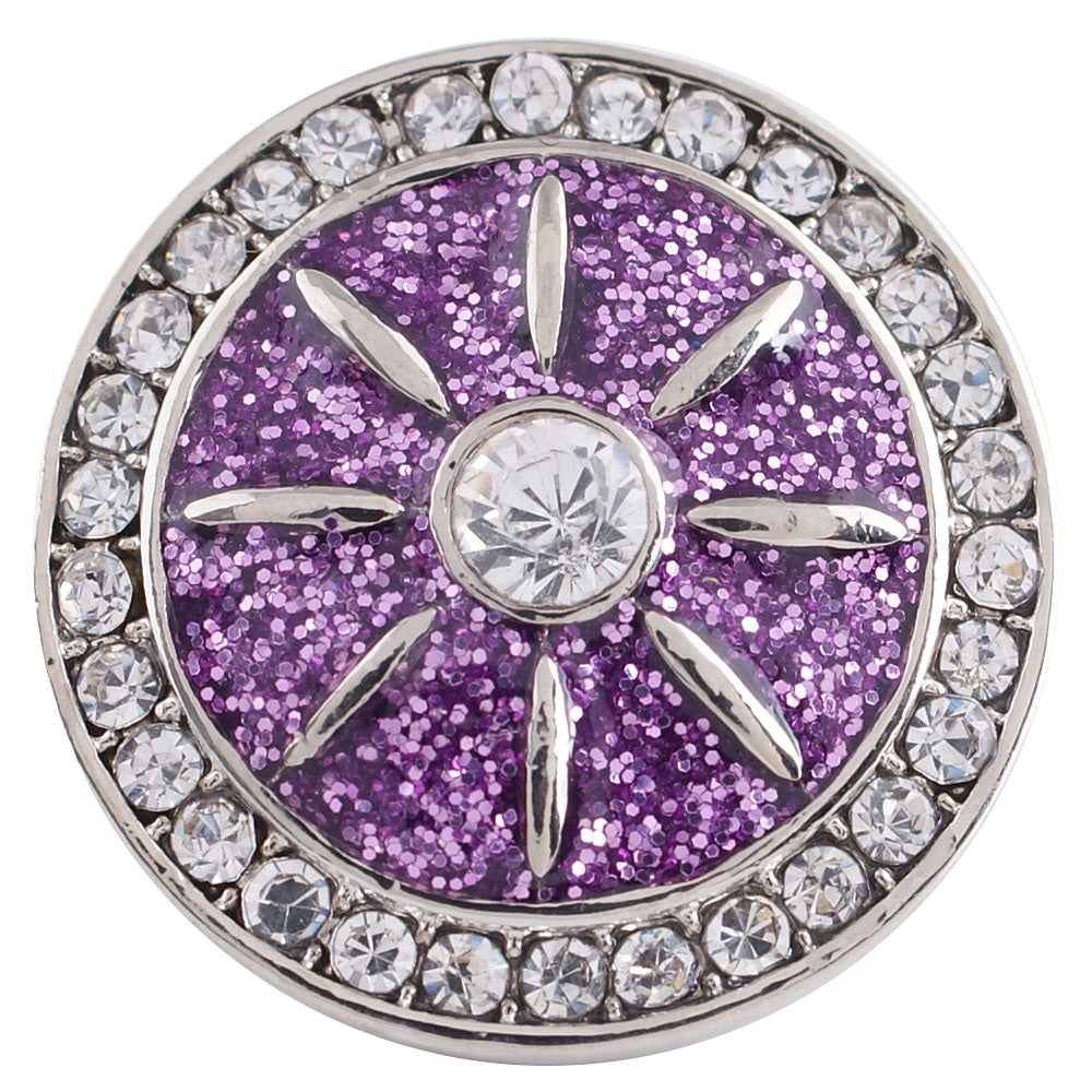 Purple Wheel Snap - Gracie Roze Yourself Expression Snap Jewelry
