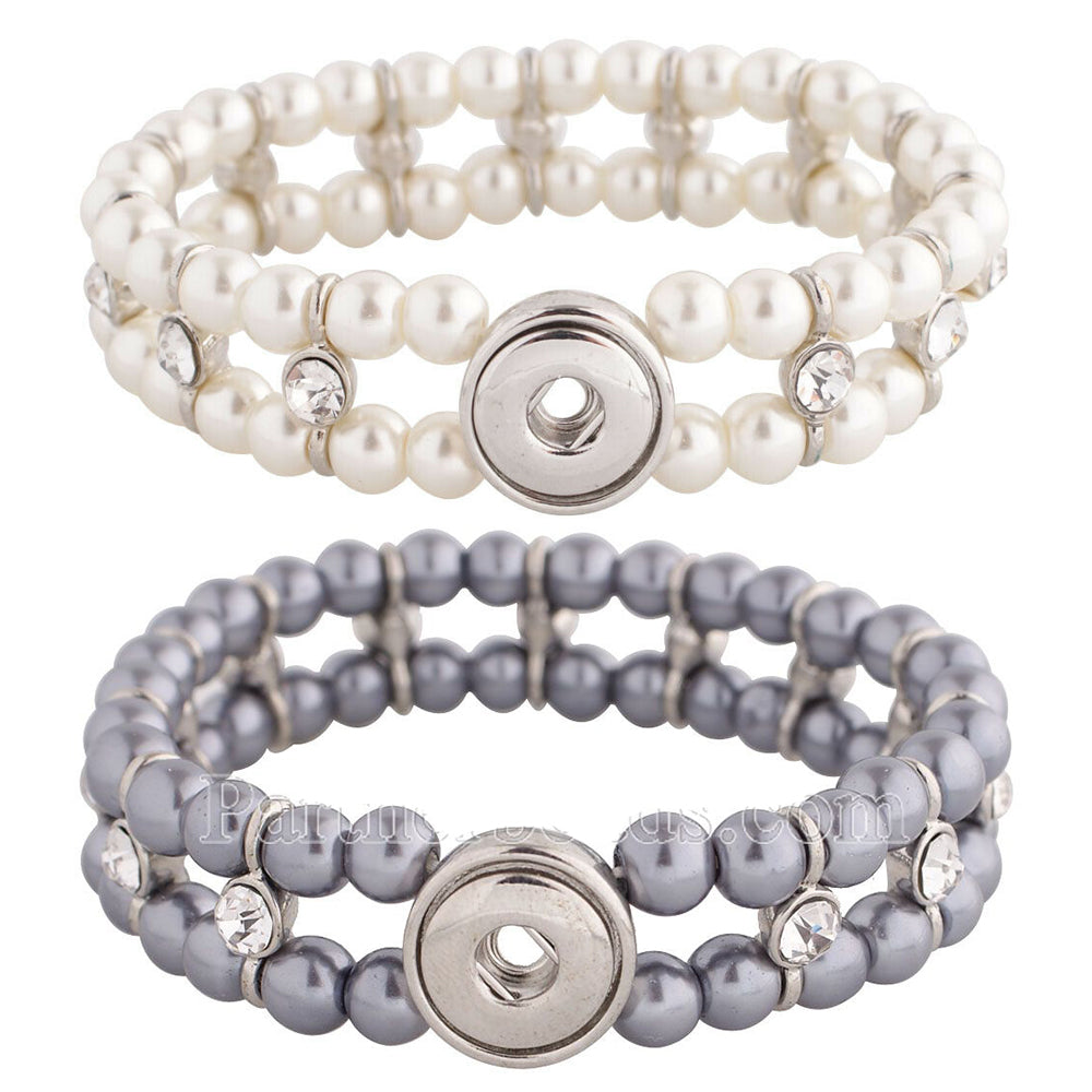 Crystal Pearl Stretch Mini Bracelet - Gracie Roze