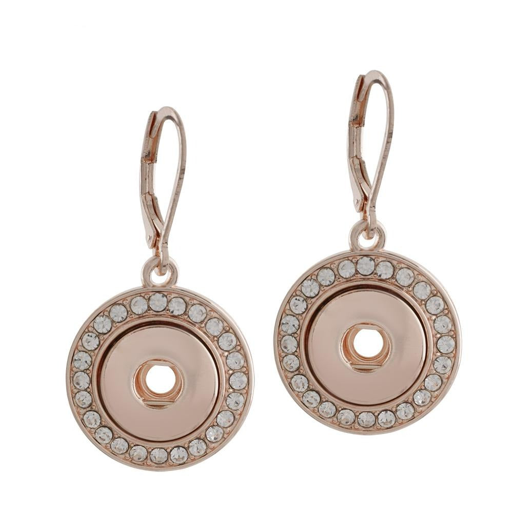 Rose Gold Crystal Surround Mini Earrings - Gracie Roze