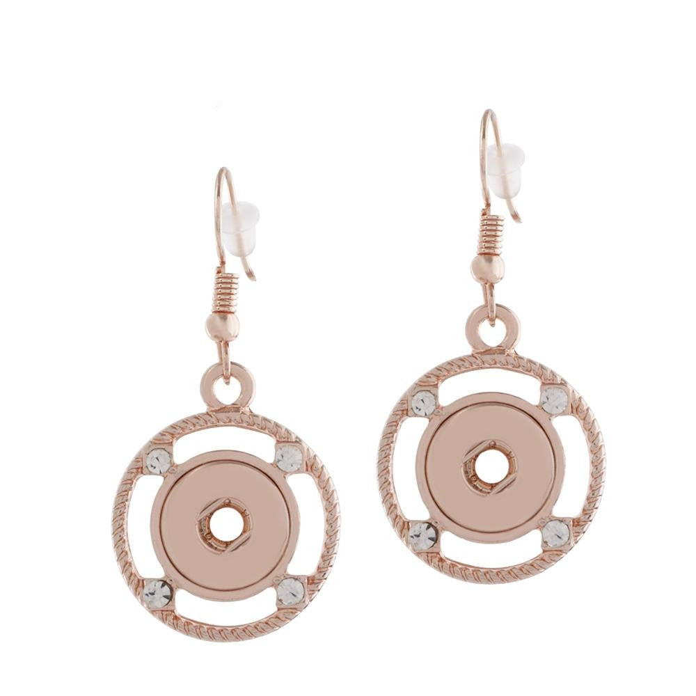 Rose Gold Compass Mini Earrings - Gracie Roze