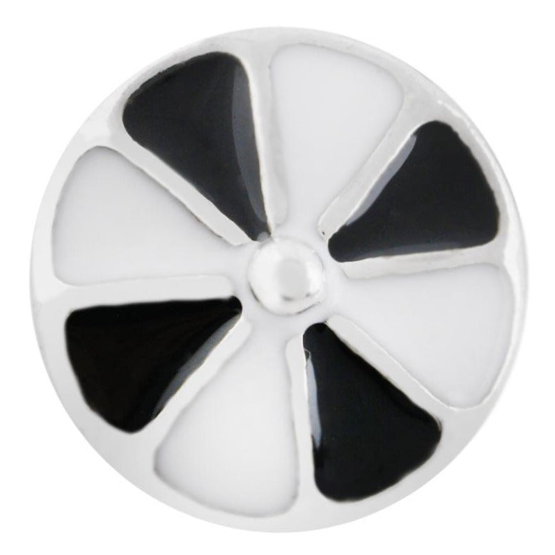 Black and White Pinwheel Mini Snap - Gracie Roze