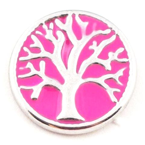 Family Tree Pink Mini Snap - Gracie Roze Yourself Expression Snap Jewelry