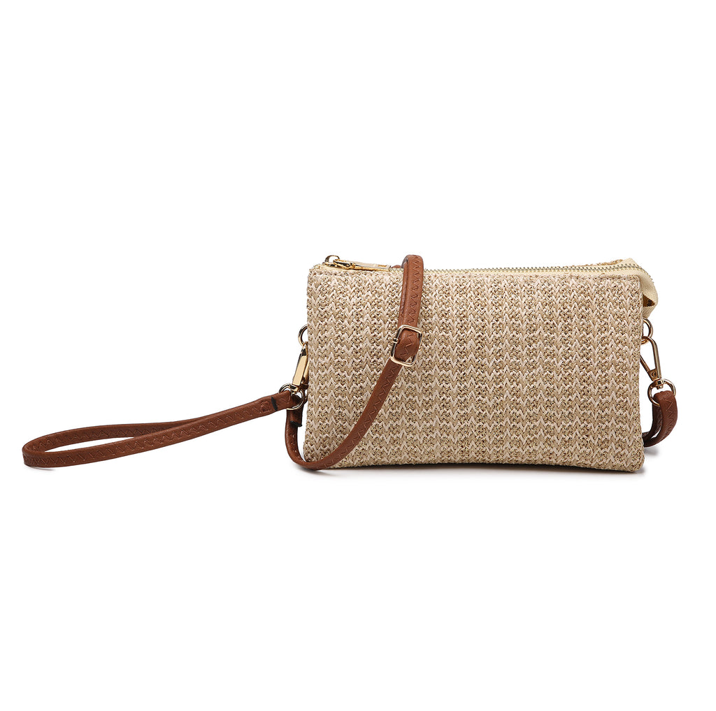 Jen & Co. Natural/Gold Clutch Crossbody - Gracie Roze