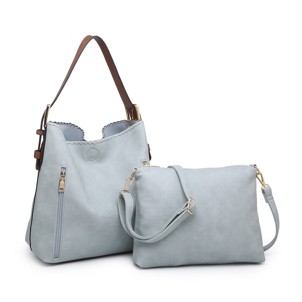 Jen & Co. Conceal Carry Hobo Bag Powder Blue - Gracie Roze