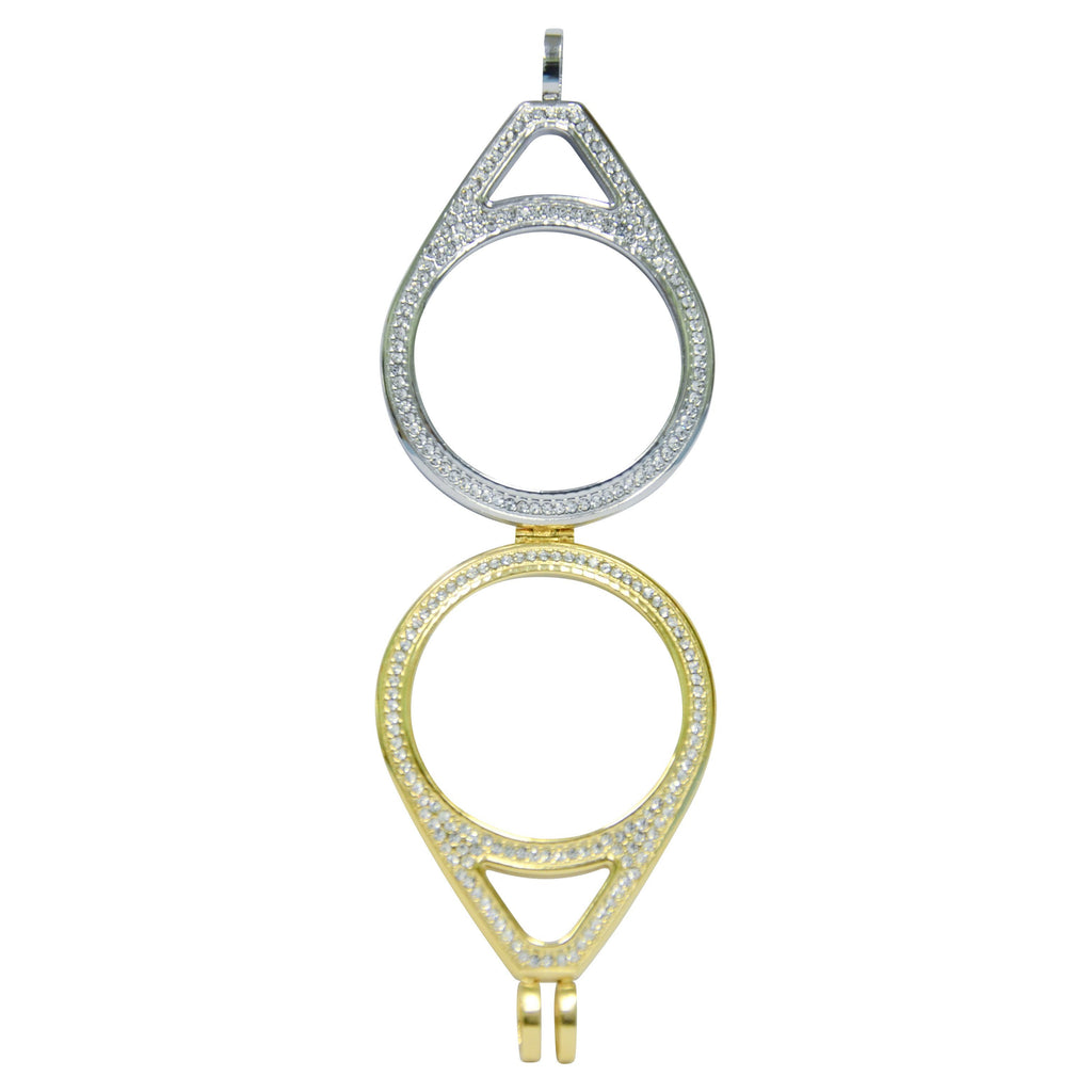 Gold and Silver Teardrop Holder - Gracie Roze