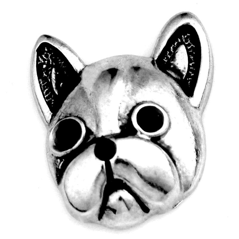 Metal Frenchie Snap - Gracie Roze Yourself Expression Snap Jewelry