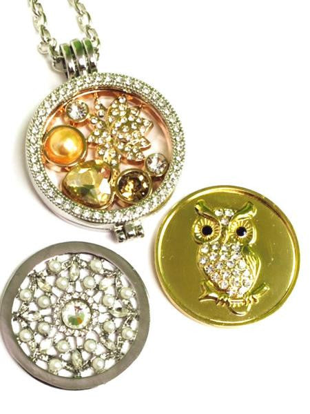 Pearls and Hearts,  Pearl Web, and Owl Coin Set