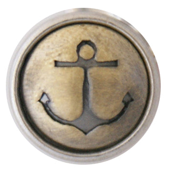 Bronze Anchor Mini Snap - Gracie Roze Yourself Expression Snap Jewelry