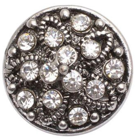 Stars and Stones White Metal Snap - Gracie Roze