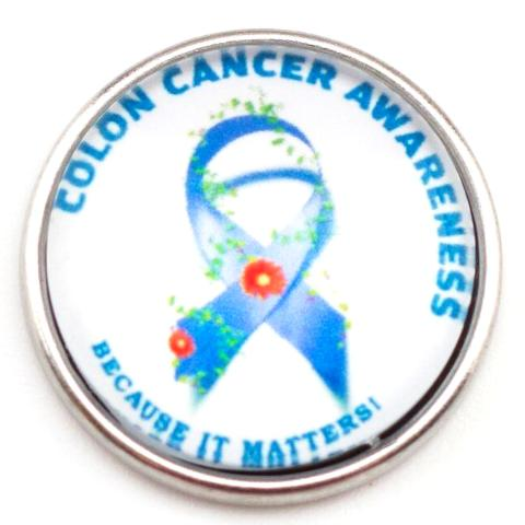 Colon Cancer Awareness Snap - Gracie Roze Yourself Expression Snap Jewelry
