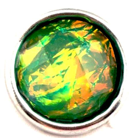 Green Opal Mini Snap - Gracie Roze Yourself Expression Snap Jewelry