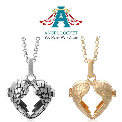 Open Wings Angel Locket