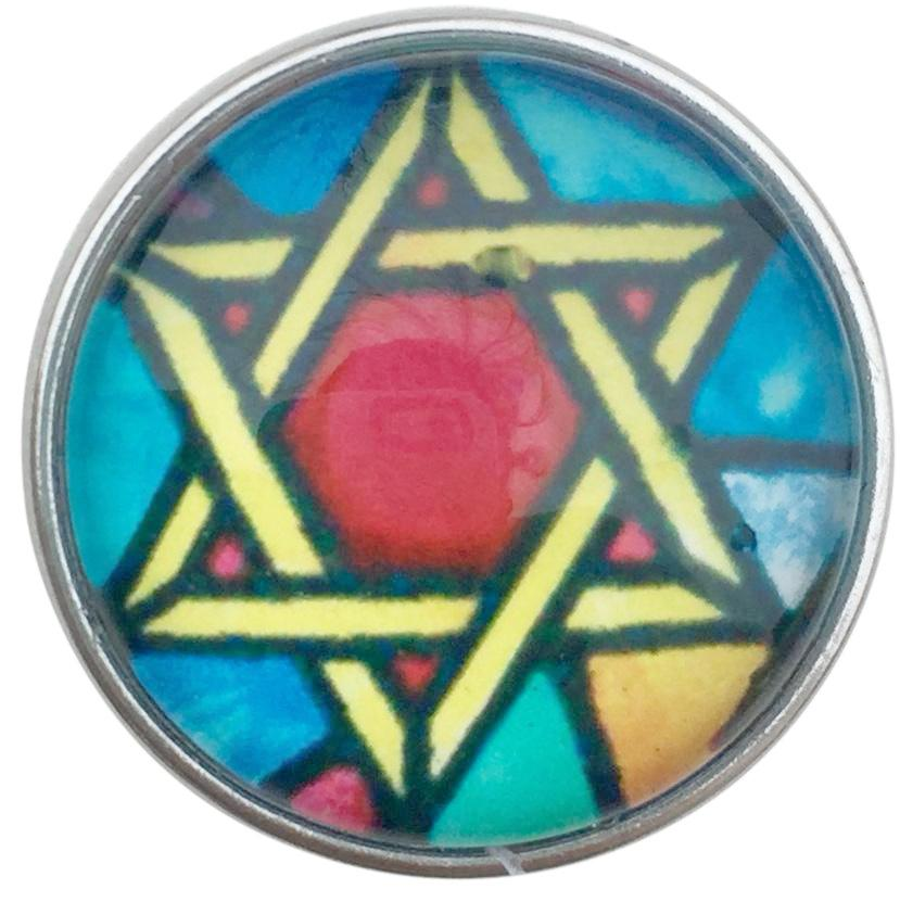 Colorful Star of David Snap - Gracie Roze