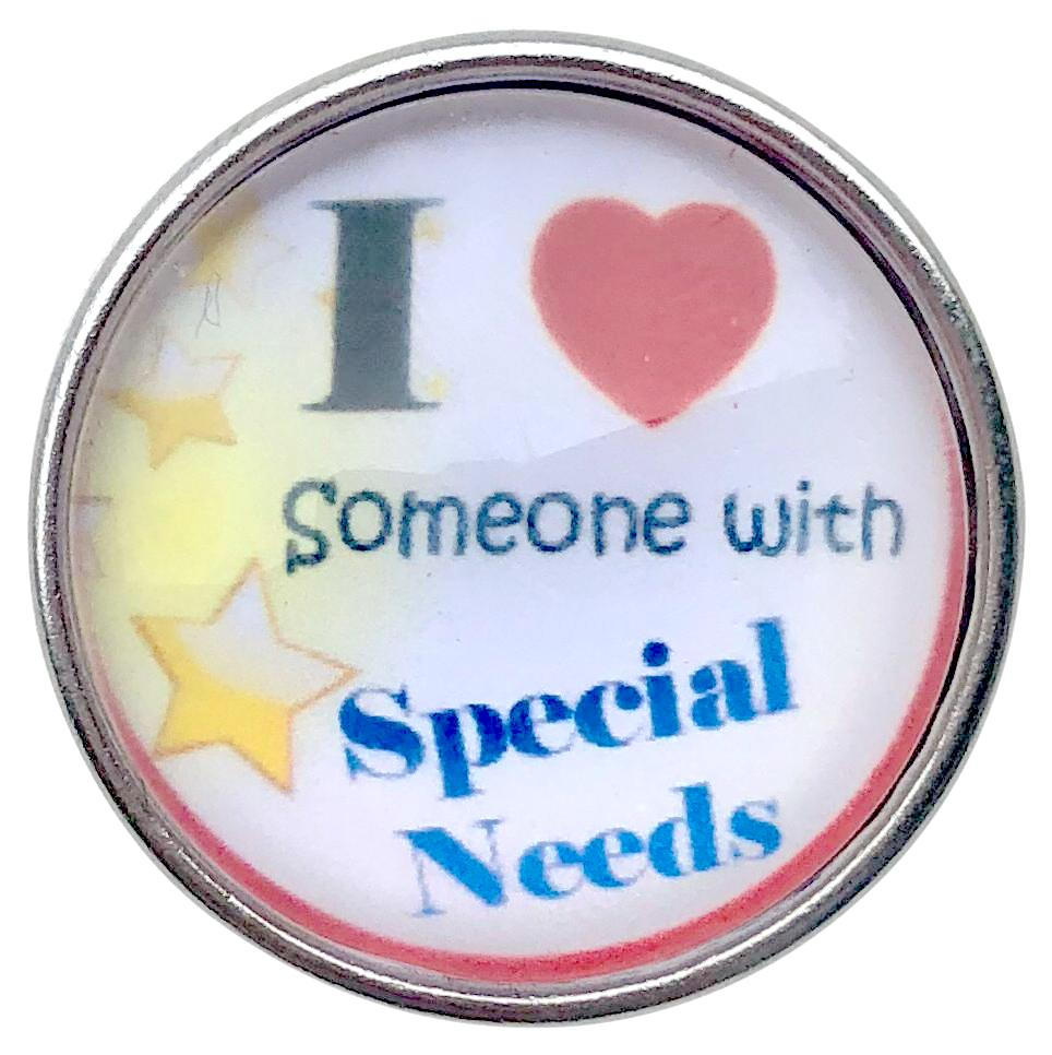 I Love Someone With Special Needs Snap - Gracie Roze Yourself Expression Snap Jewelry