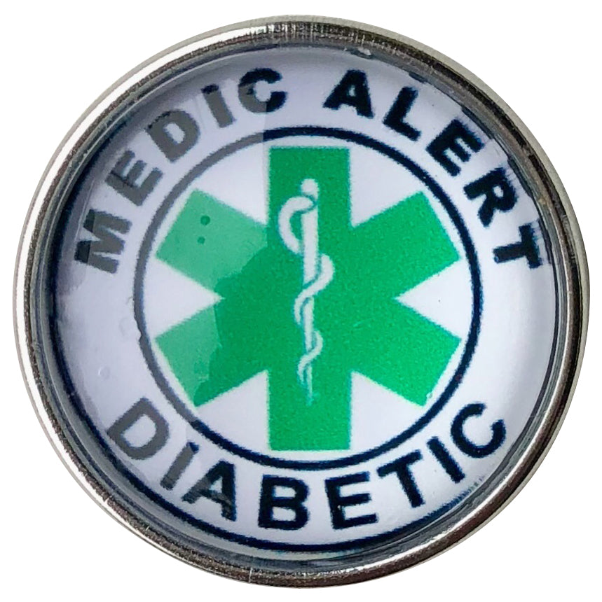 Medic Alert Diabetic Snap - Gracie Roze Yourself Expression Snap Jewelry