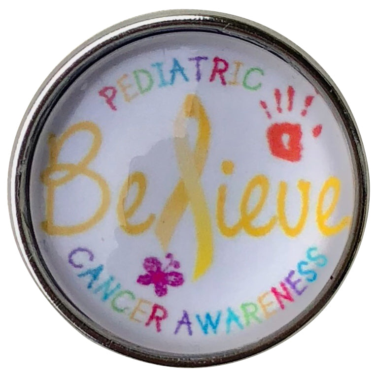 Childhood Cancer Believe Snap - Gracie Roze Yourself Expression Snap Jewelry