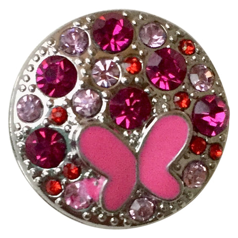 Butterfly Pink Crystal Snap