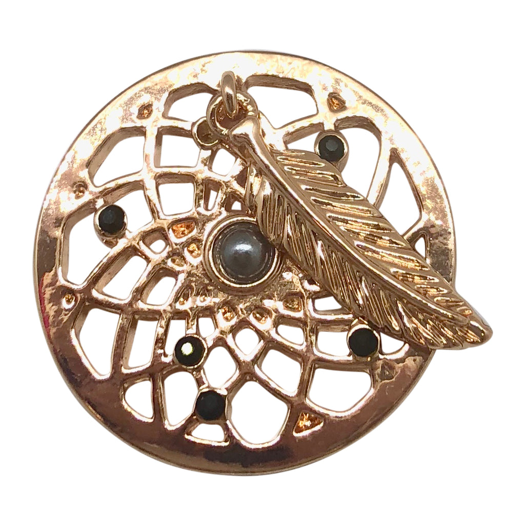 Dream Catcher Rose Gold With Black Coin