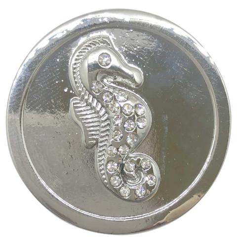 Silver Sea Horse Coin - Gracie Roze Yourself Expression Snap Jewelry