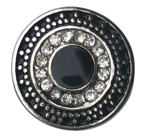 Dots Black and White Crystal Snap