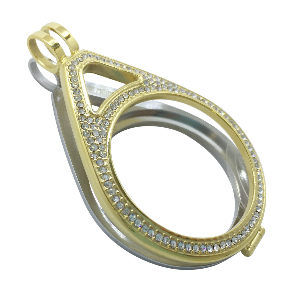 Gold and Silver Teardrop Holder