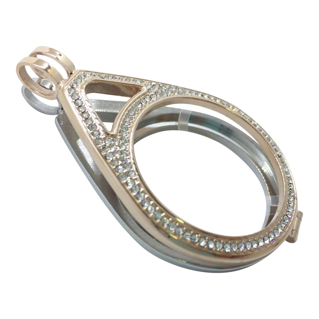 Rose Gold and Silver Teardrop Holder