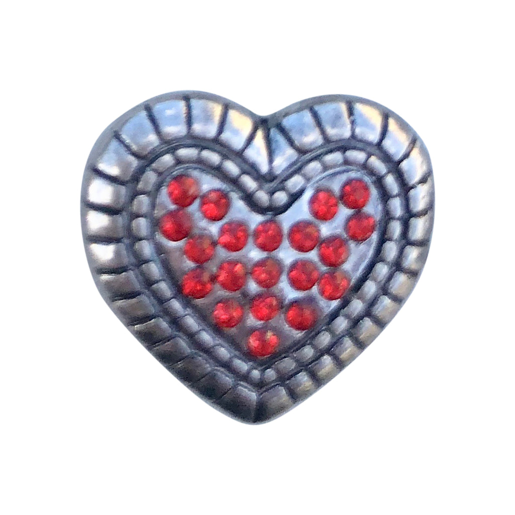Heart Crystal Mini Snap - Gracie Roze Yourself Expression Snap Jewelry