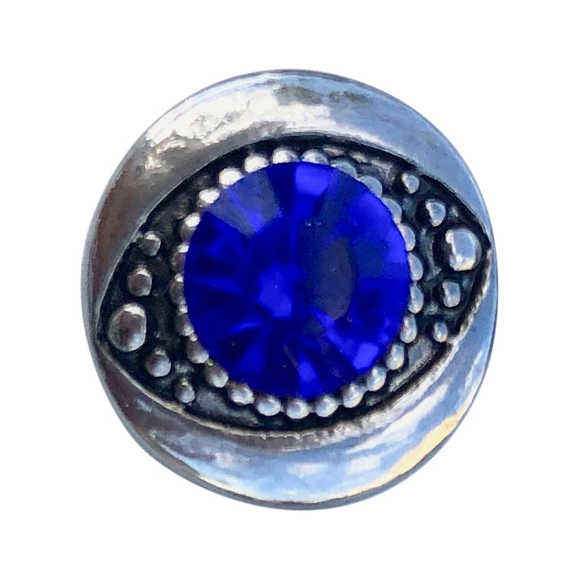 Eye of Protection Blue Mini Snap - Gracie Roze Yourself Expression Snap Jewelry