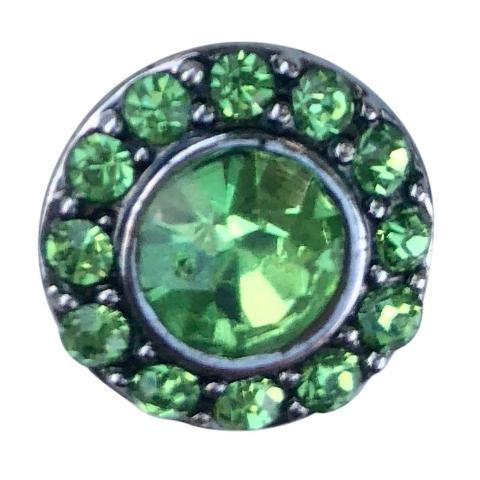 Green Crystal Center Mini Snap - Gracie Roze Yourself Expression Snap Jewelry
