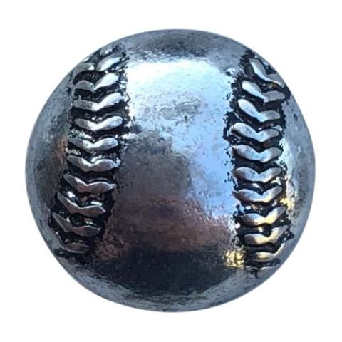 Baseball Metal Mini Snap - Gracie Roze Yourself Expression Snap Jewelry