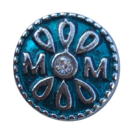 Mom Teal Mini Snap