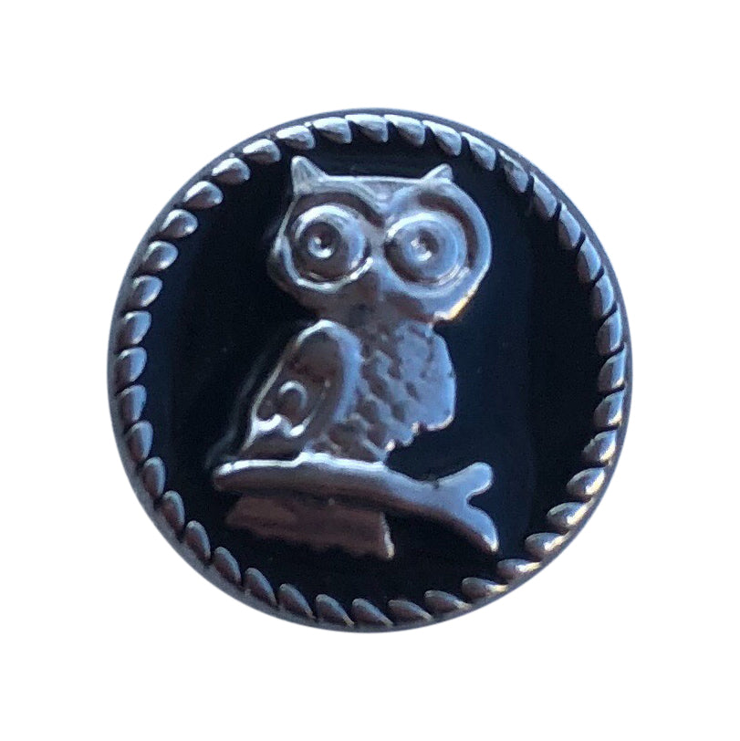 Owl Black Metal Mini Snap