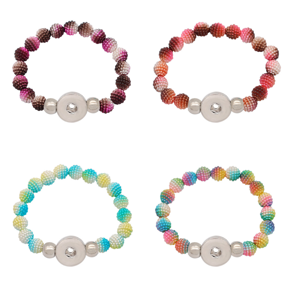 Plastic Puff Beaded Bracelet - Gracie Roze