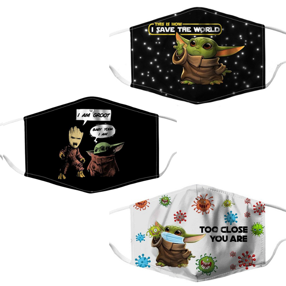 Groot Yoda Adult Adjustable Face Mask - Gracie Roze