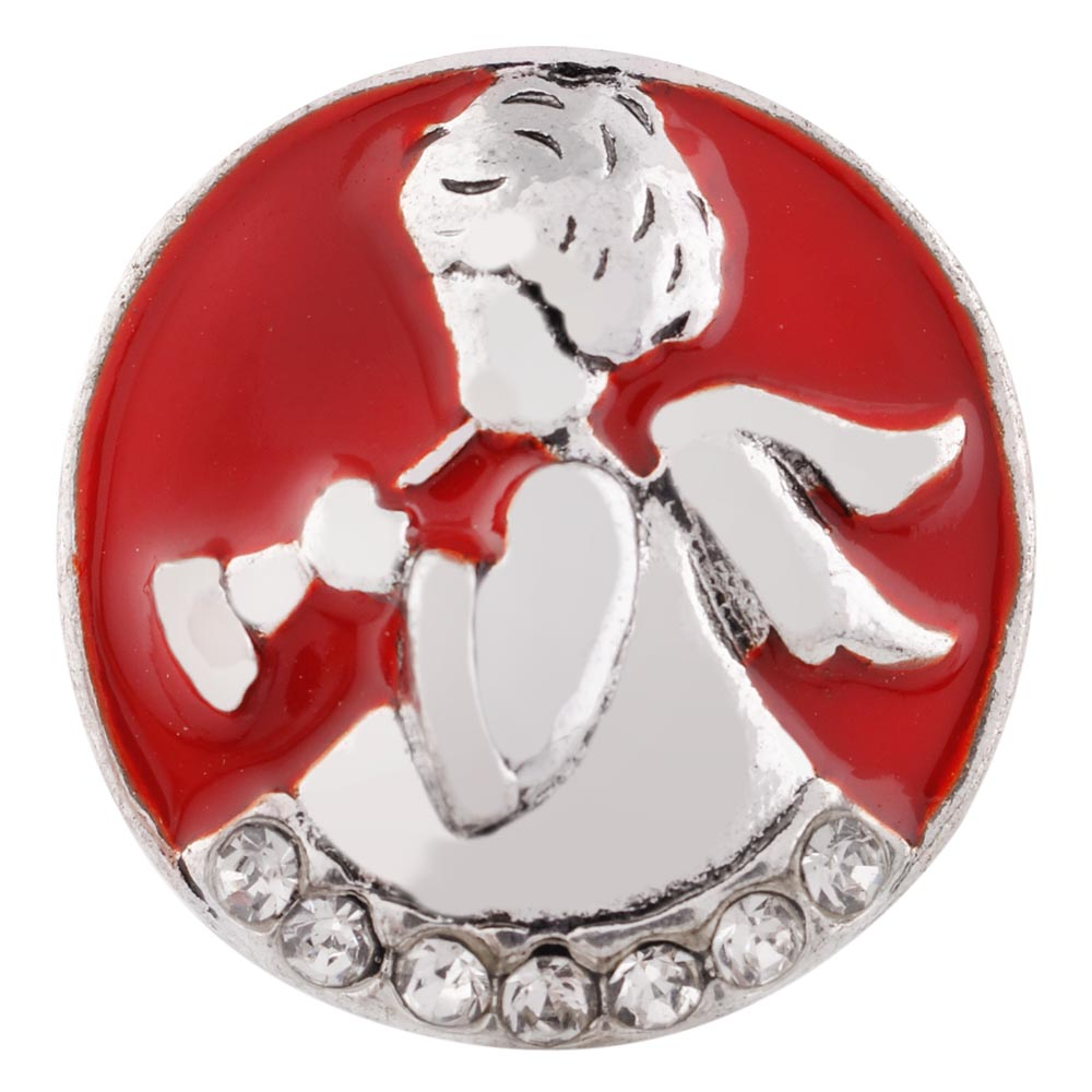 Red Crystal Angel Snap - Gracie Roze Yourself Expression Snap Jewelry