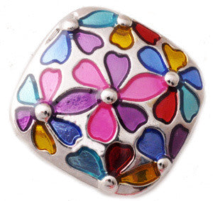 Multi-Colored Floral Metal Popper