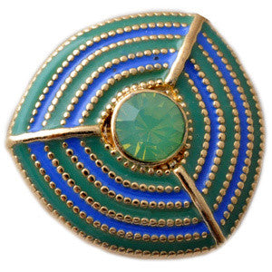 Mesmerizing Blue and Green Metal Popper