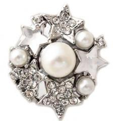 White Pearls and Stars Popper
