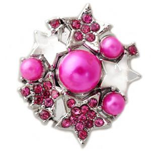 Hot Pink Pearls and Stars Snap - Gracie Roze