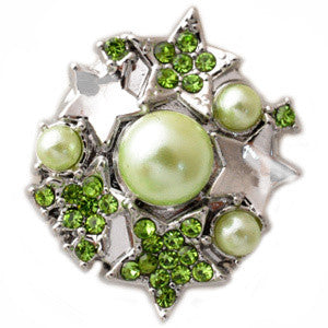 Green Pearls and Stars Popper