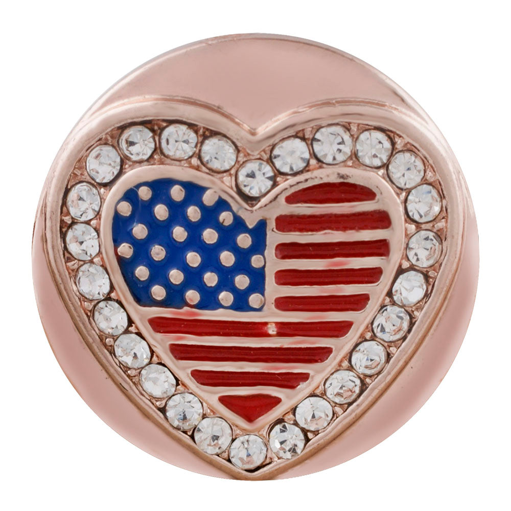 Rose Gold America Snap - Gracie Roze Yourself Expression Snap Jewelry