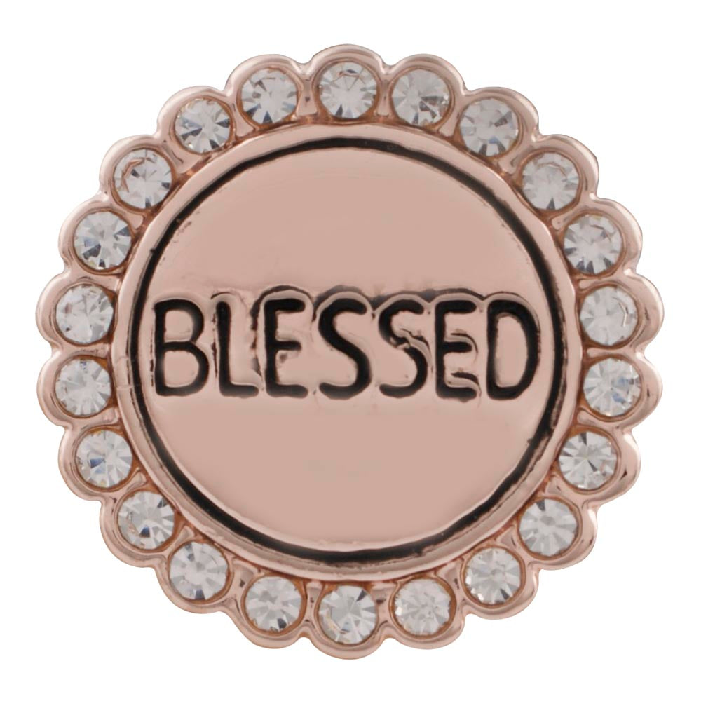 Rose Gold Blessed Snap - Gracie Roze Yourself Expression Snap Jewelry