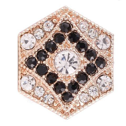 Rose Gold Crystal Diamond Snap